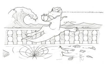 Graceful T-Rex by BonoMourits