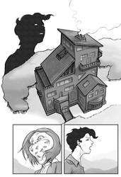 Comic page: hero shot of the house by MatteoPrayer
