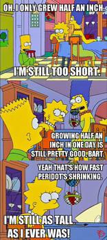 Meme: Peridot in the Simpsons by SuperSaf