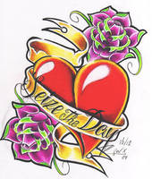 Tattoo flash heart by WillemXSM
