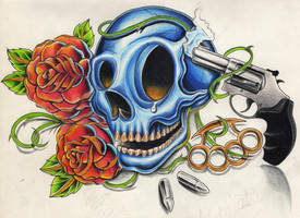 skull gun by WillemXSM