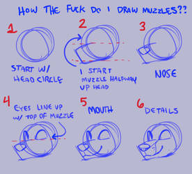 muzzle tutorial i guess by Warrioratheart