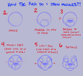 muzzle tutorial p3 by Warrioratheart