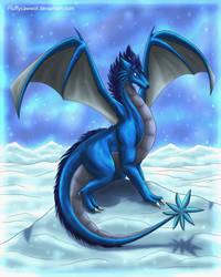 Snowy The Snowdragon by fluffycawwot