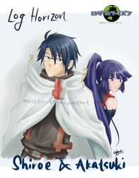 Log Horizon - Shiroe and Akatsuki by mist2ri-ell