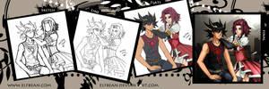 Yugioh 5Ds - Sepia (Progress) by ElfBean