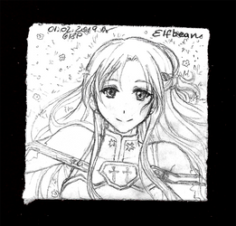 Sketchbook #94 - Asuna by ElfBean