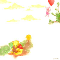 Pooh and Piglet by Hana-Cake