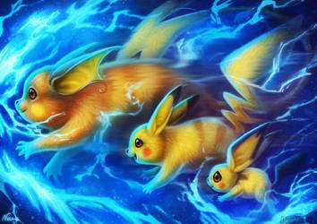 Pikachu Evolution by ArtofNyra