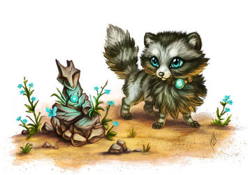 Cute Raccoon by ArtofNyra