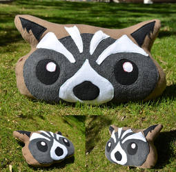 Rocket Raccoon Pillow by Inu-Josha