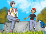 Meeting Your Roots: Red and Ash by Rex-Shadao