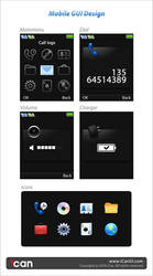 Mobile GUI Design 176x220 by iCanUI