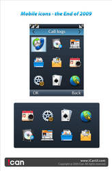 Mobile icons  the End of 2009 by iCanUI
