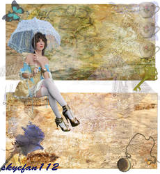 Blue Teacup Collage 1 by AeliaNaqwiDesigns