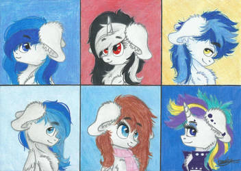 White Ponies by Kindny-Chan