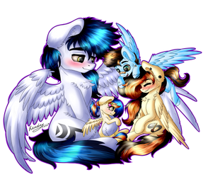 Cute Family by Kindny-Chan