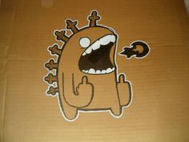 Retrosauros on cardboard 2 by ManeFromSlipflip