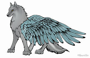 Winged Wolf by MidorikoHyuuga