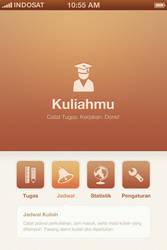 Kuliahmu App | Menu Design by faizalqurni