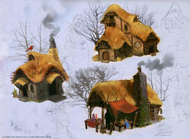 Hut Designs by Nerd-Scribbles