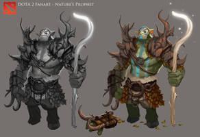 DOTA 2 - Nature's Prophet Armor Design by Nerd-Scribbles