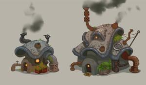 Weird Houses by Nerd-Scribbles