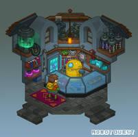 Robot Quest Shop by Nerd-Scribbles