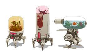 Terrarium Bots by Nerd-Scribbles