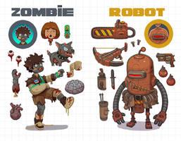 Zombies vs Robots by Nerd-Scribbles