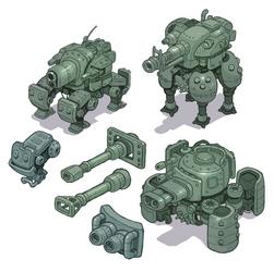 Mech Tank Concept Art by Nerd-Scribbles