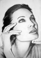 angelina jolie looking up by fatihsultan