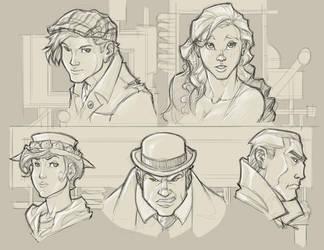 NPC exploration sketches by revoincubus