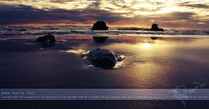 The Sun Kissed Sea by KovoWolf
