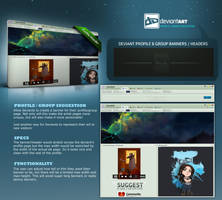 DA suggestion - profile / group banners by KovoWolf