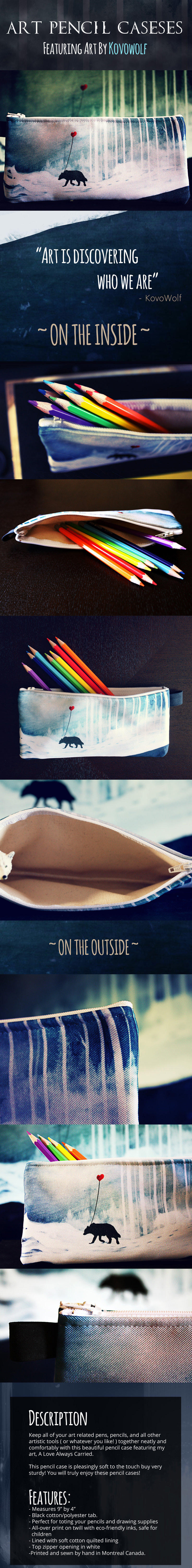 Love Always Carried Pencil Cases by KovoWolf