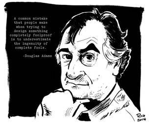 Douglas Adams by R0b0C