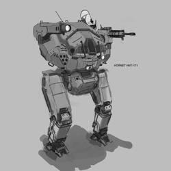 Battletech Hornet Sketch by Kwibl