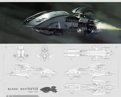Eve Online - Blade Destroyer by kianchai
