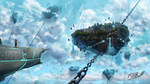 Commission: Flying Islands by FrankAtt