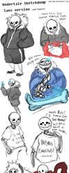 Undertale Sketchdump: Skeleton trash by Juuria66
