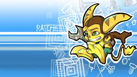 Ratchet PSP wallpaper by DanielleBaloo