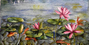Lotus and Koi by shirly90