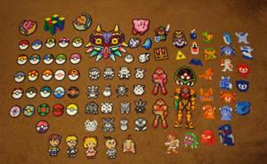 Nintendo Perler Collection (As of now.) by Pika-Robo