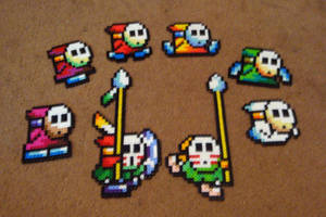 Perler Shy Guy Collection by Pika-Robo