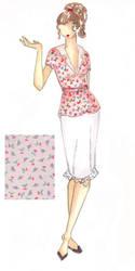Fashion Illustration: Print 1 by Lunatiger