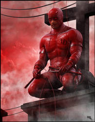 Daredevil 3d by MarcMons007