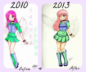 Before and After: Sakura Sohma by Tibbayyy