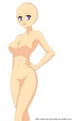 Anime girl base by XStrawberryxBunnyX