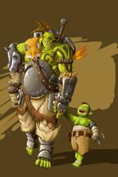 Morcas y su hijo DurKhar fondo by kajinman